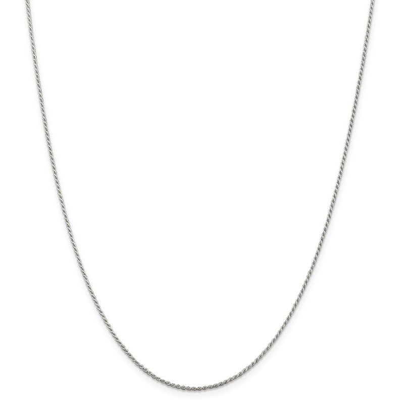 Quality Gold Sterling Silver 1.1mm Diamond-cut Rope Chain