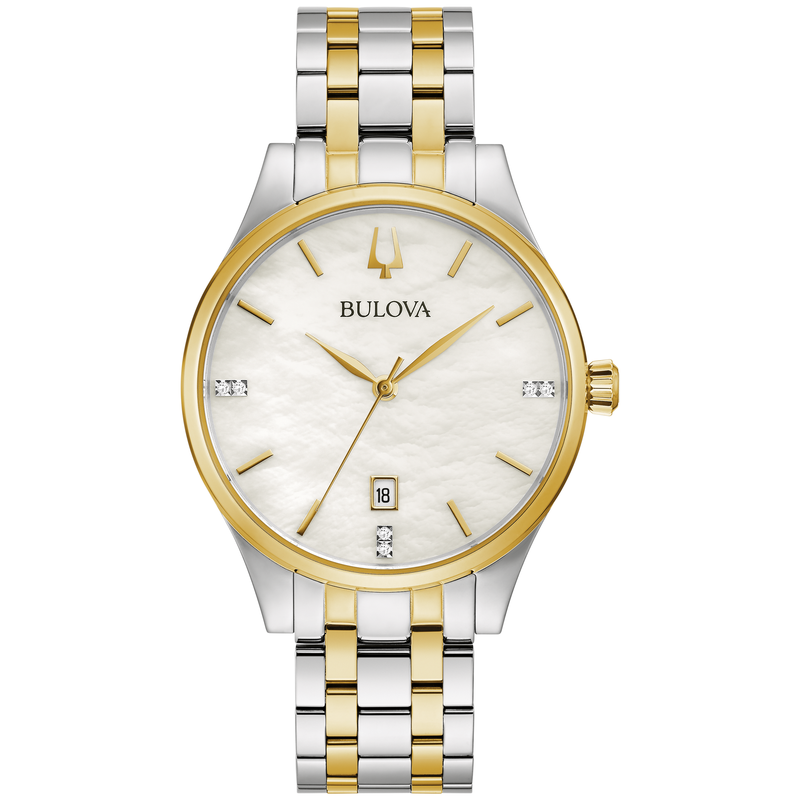 Bulova Ladies' Two-Tone Bracelet Watch with Diamond Accents