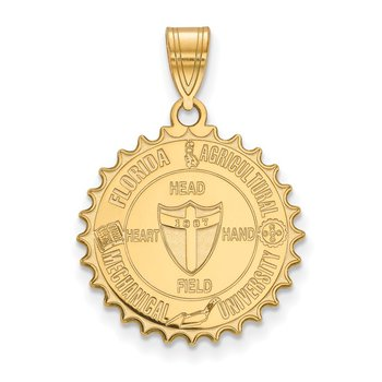 Gold-Plated Sterling Silver Florida A&M University NCAA Pendant