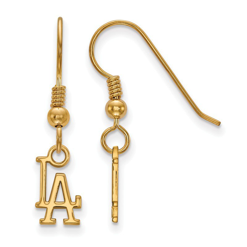 Mlb Gold Plated Sterling Silver Los Angeles Dodgers Earrings