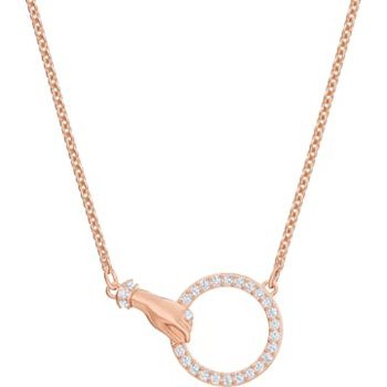 Swarovski Symbolic Necklace, White, Rose-gold tone plated