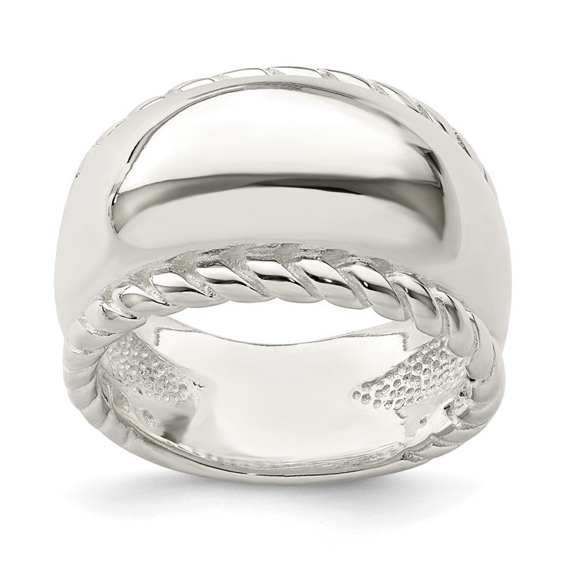 Quality Gold Sterling Silver Twisted Dome Stacked Ring