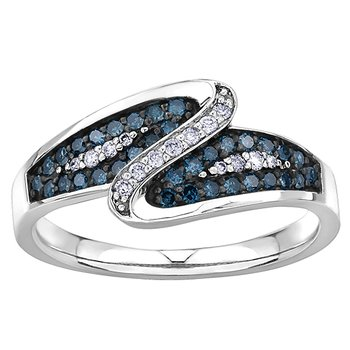 Enhanced Blue Diamond Ladies Ring