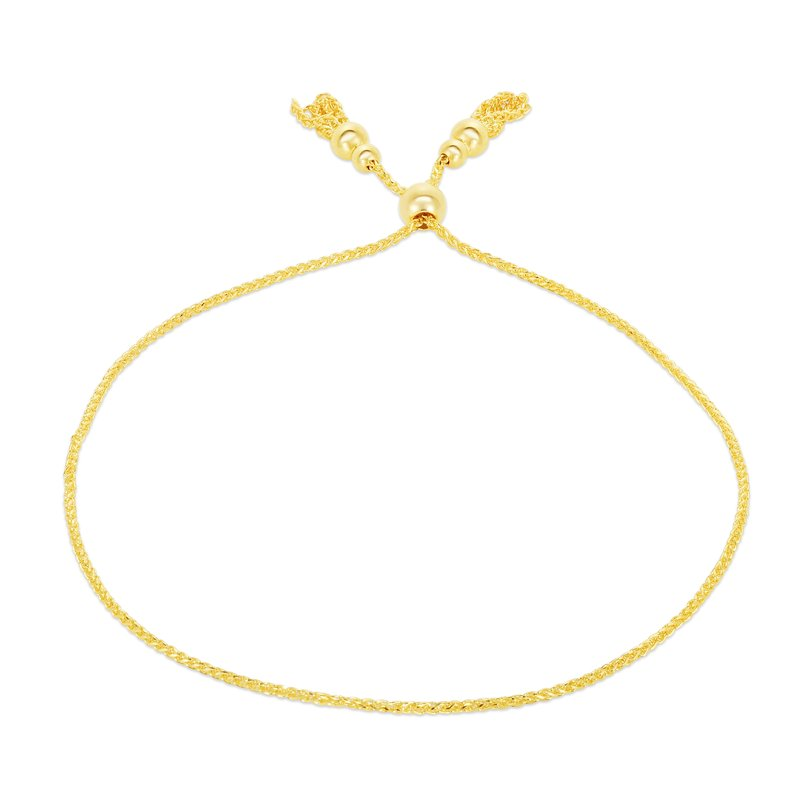 Royal Chain 14K Gold Tassels Friendship Bracelet