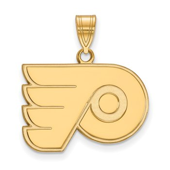Gold-Plated Sterling Silver Philadelphia Flyers NHL Pendant