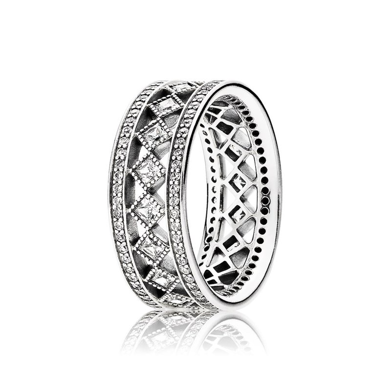 PANDORA Vintage Fascination Ring, Clear Cz