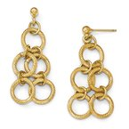Leslie's Leslie's Sterling Silver Flash-plated Gold-tone Post Dangle Earrings
