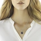 JOHN HARDY Bamboo Pendant Necklace in Silver with Gemstone