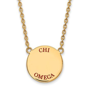 Gold-Plated Sterling Silver Chi Omega Greek Life Necklace