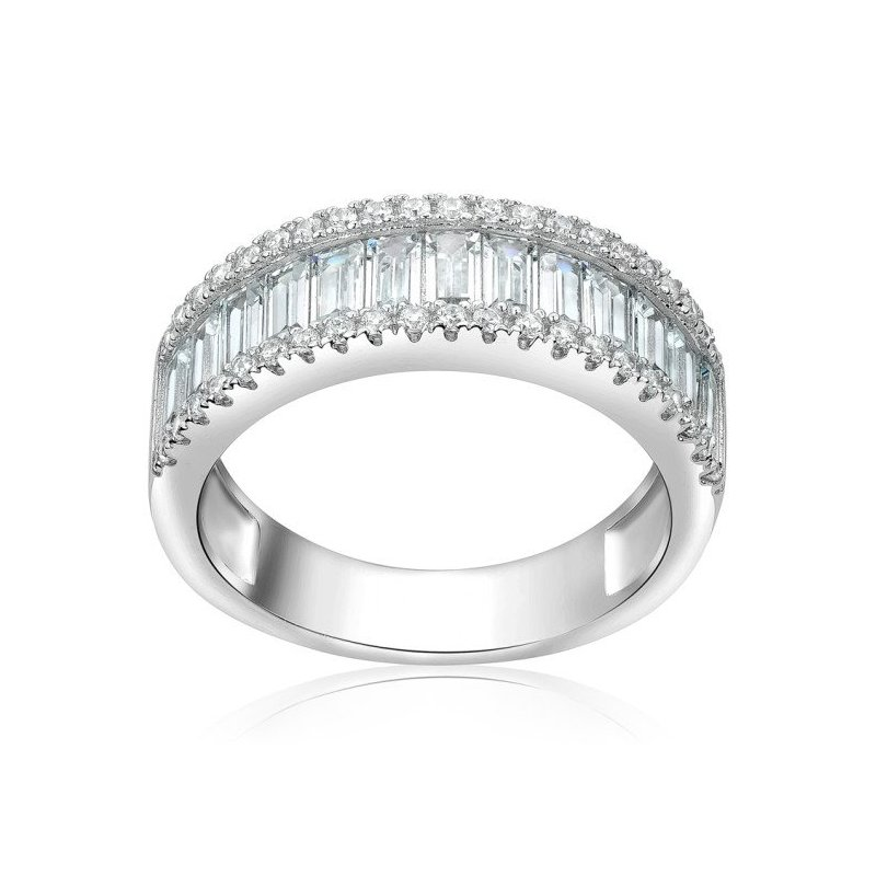 LARUS Jewelry Half Eternity Ring