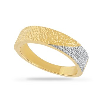 14K BAND WITH 34 DIAMONDS 0.14CT