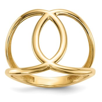 14k Gold Polished Ring