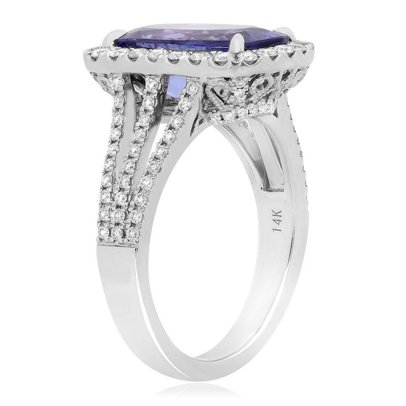 Roman & Jules Cathedral Set Tanzanite & Diamond Ring