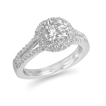 18K WG Diamond Engagement Ring