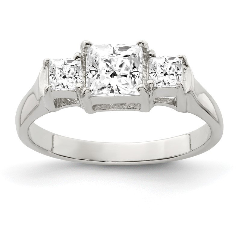 Fine Jewelry by JBD Sterling Silver CZ Ring