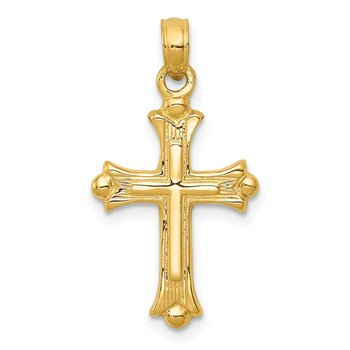 14k Budded Cross Charm