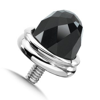 Sterling Silver Onyx Caps