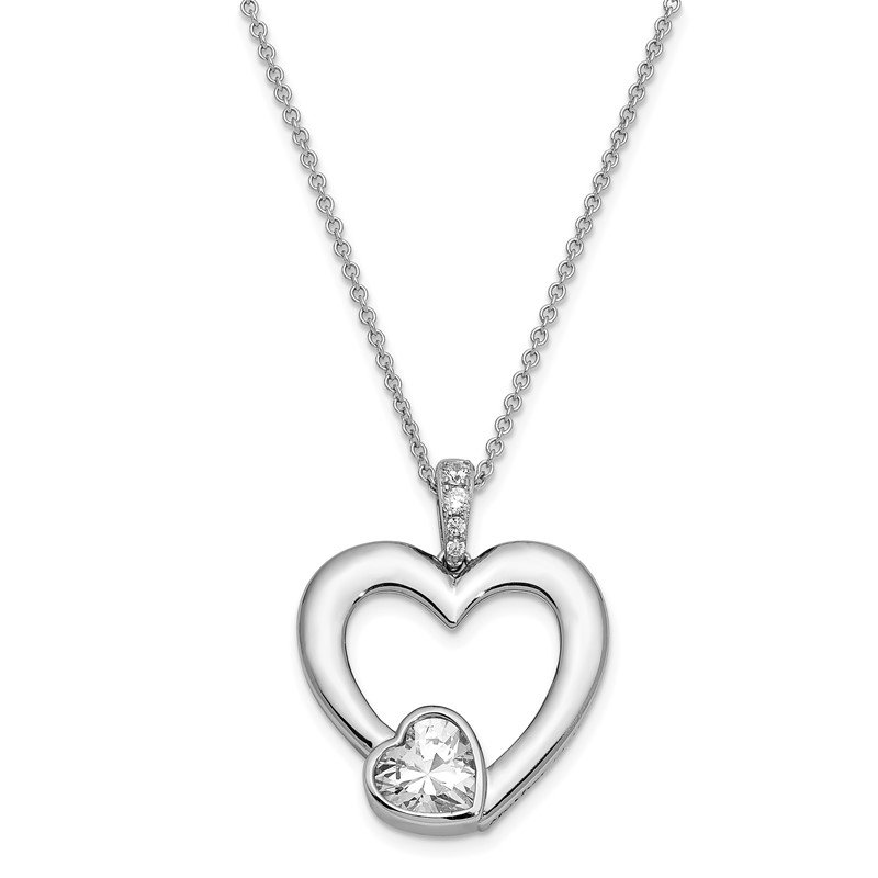 Quality Gold Sterling Silver CZ Antiqued Mother Of The Bride 18in. Necklace