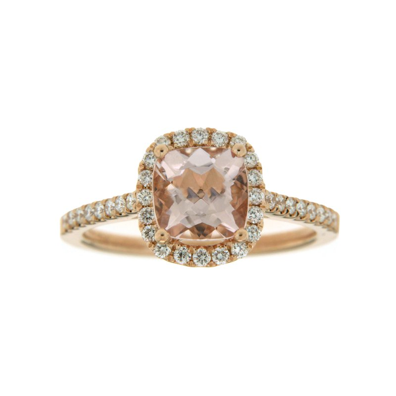 Paragon Fine Jewellery 14k Rose Gold Ring with Morganite & Diamond