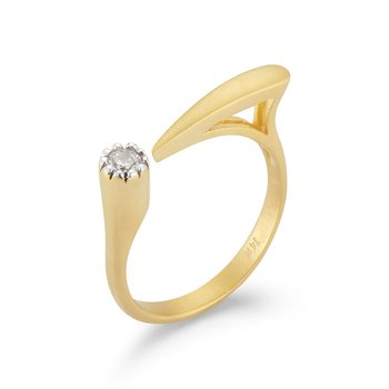 14KY OPEN PRONG RING .10CT