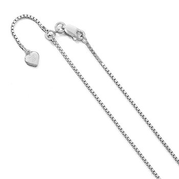 Leslie's Sterling Silver 1.15 mm Adjustable Box Chain