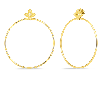 18K PETITE VENETIAN PRINCESS EARRING WITH ATTACHED HOOP
