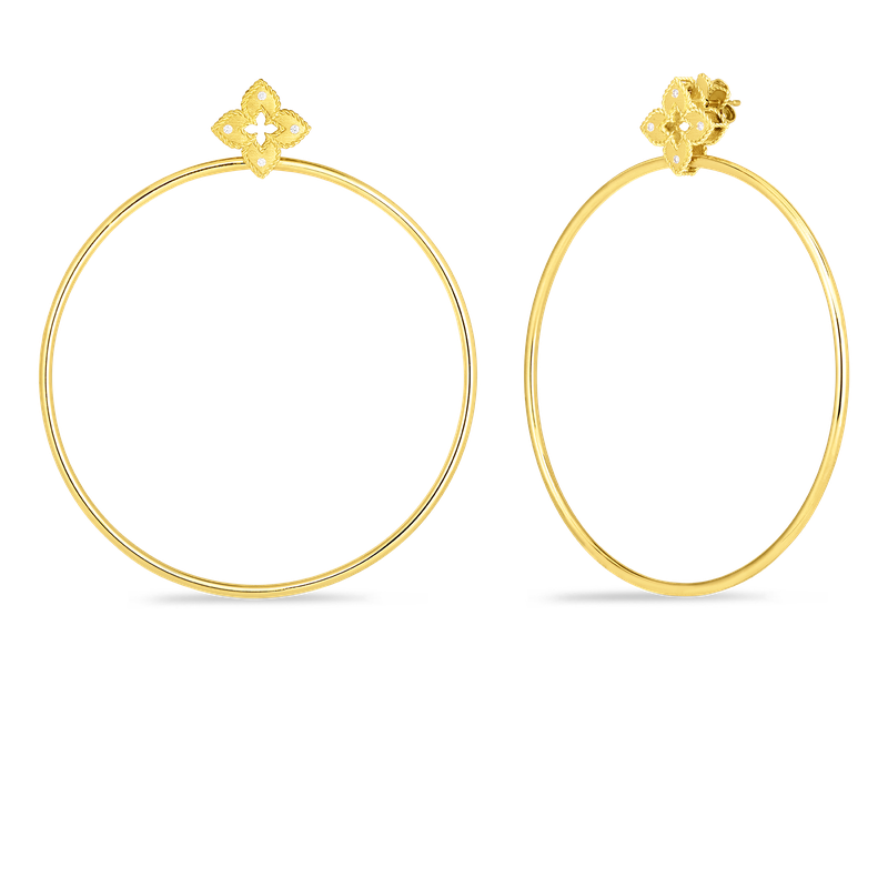 Roberto Coin 18K PETITE VENETIAN PRINCESS EARRING WITH ATTACHED HOOP