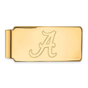 Gold-Plated Sterling Silver University of Alabama NCAA Money Clip