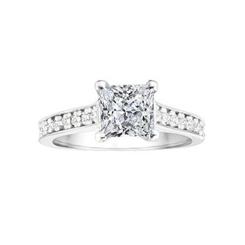 Princess Cut Classic Diamond Engagement Ring