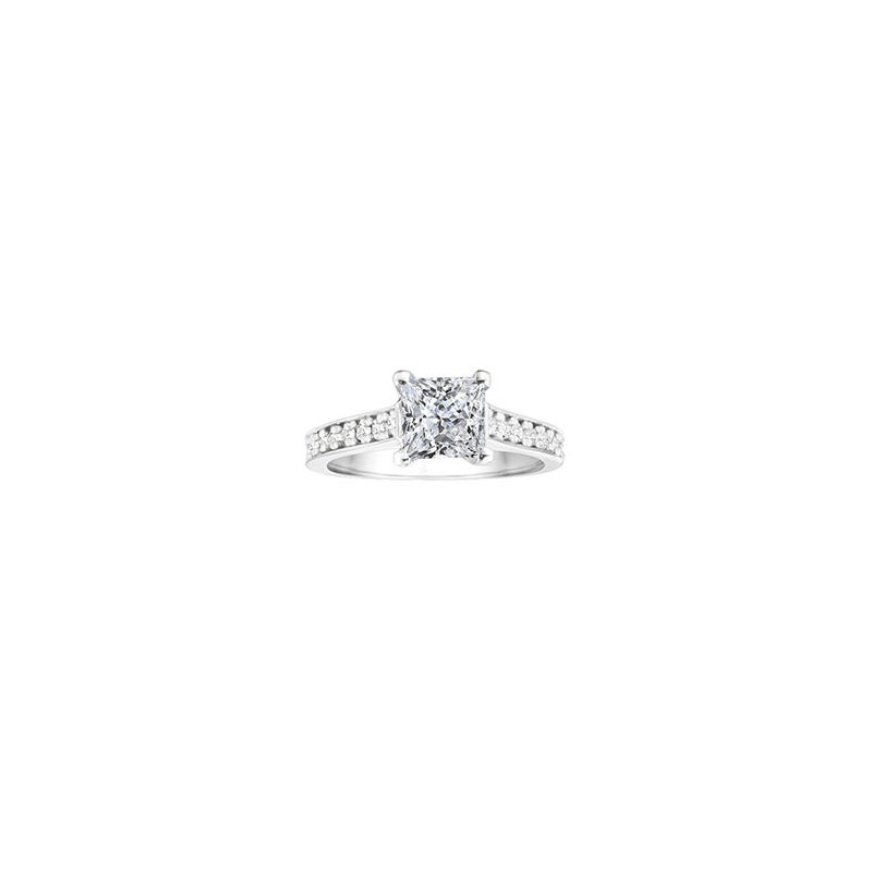 True Romance Princess Cut Classic Diamond Engagement Ring