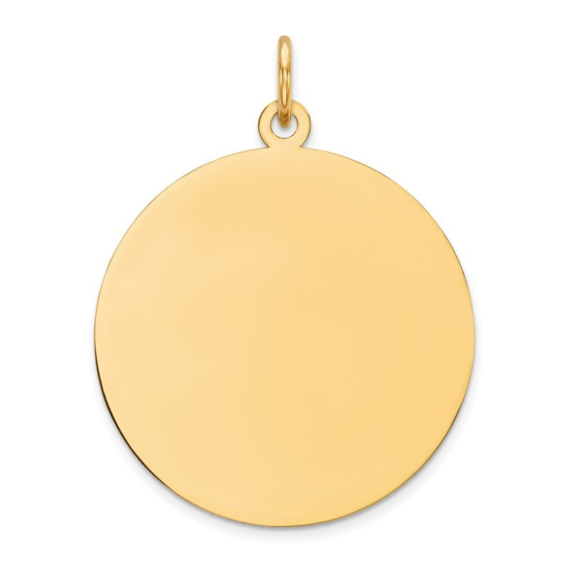 Quality Gold 14k Plain .009 Gauge Circular Engravable Disc Charm