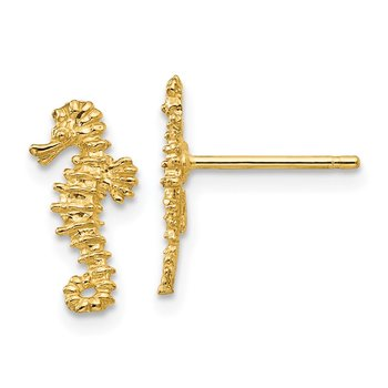 14K Mini Left and Right Seahorse Post Earrings