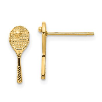 14k Mini Tennis Racquet w/Ball Post Earrings