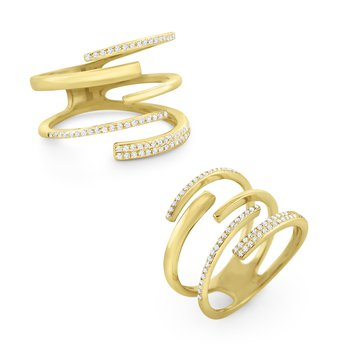 Diamond Wrap Ring Set in 14 Kt. Gold