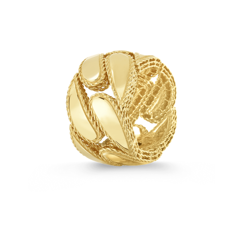 Roberto Coin 18Kt Gold Gourmette Ring