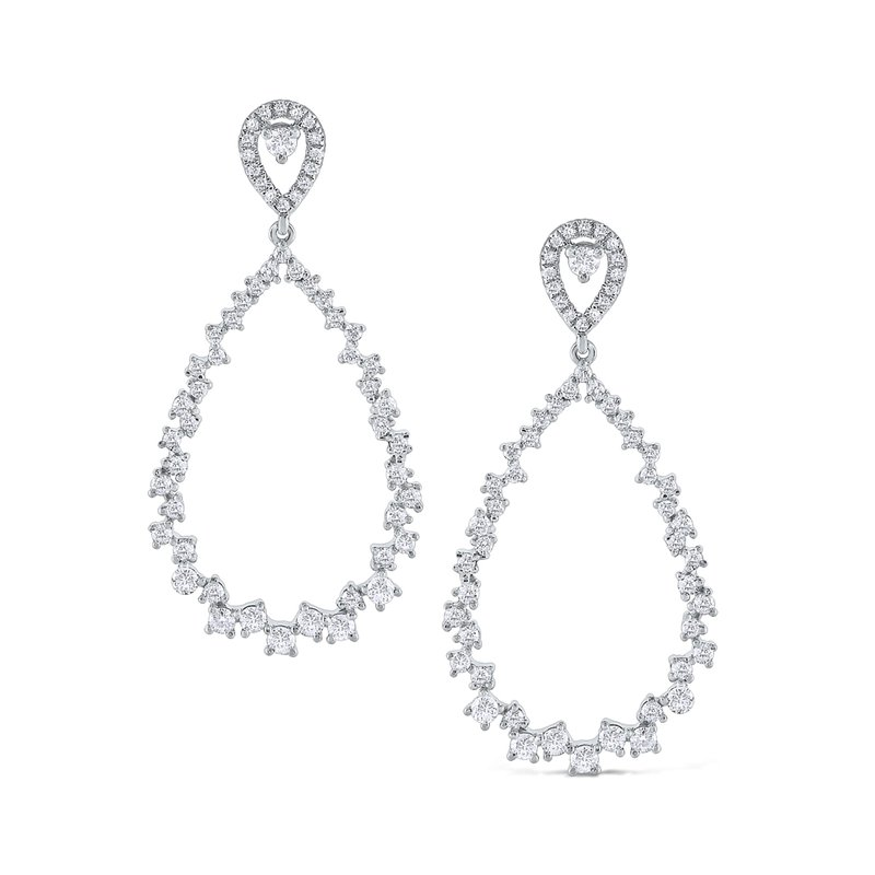 MAZZARESE Fashion 14K Diamond Open Pear Shape Earrings