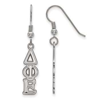 Sterling Silver Delta Phi Epsilon Greek Life Earrings