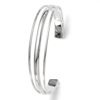 Leslie's Sterling Silver Polished Fancy Slip-on Bangle