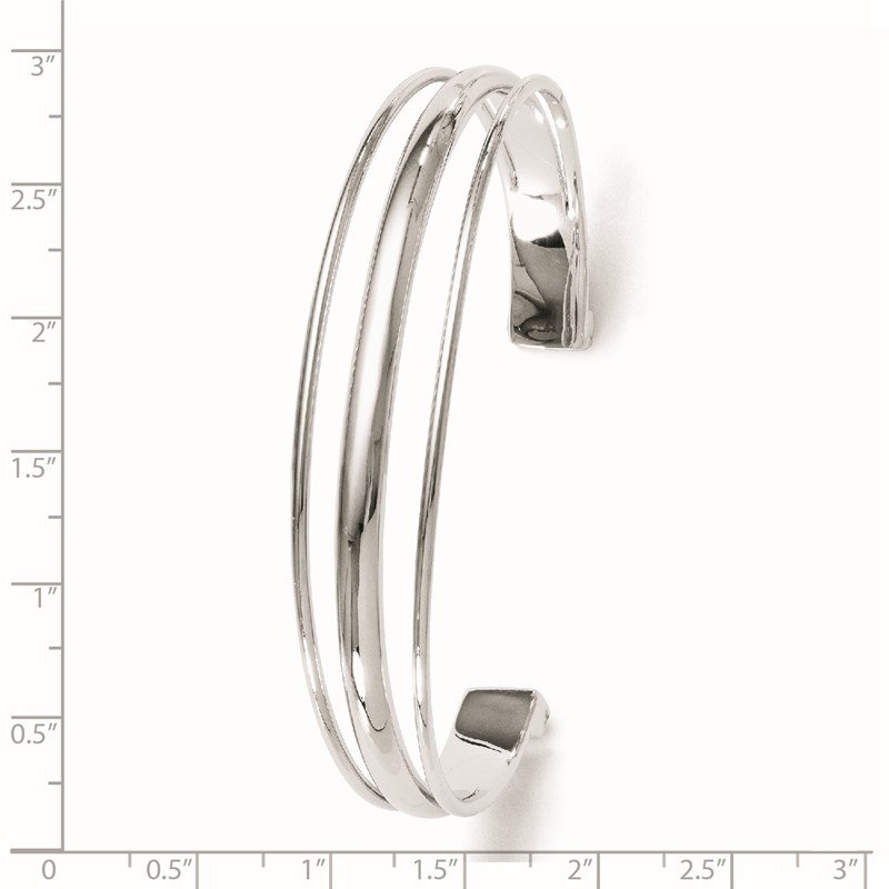 Leslie's Leslie's Sterling Silver Polished Fancy Slip-on Bangle