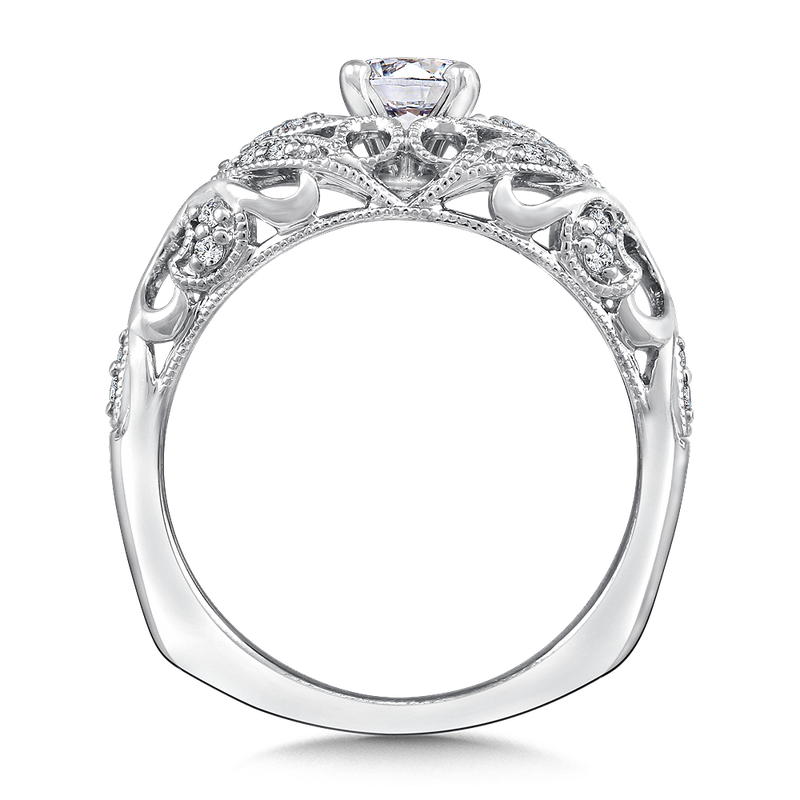 Valina Diamond Engagement Ring Mounting in 14K White Gold (.18 ct. tw.)