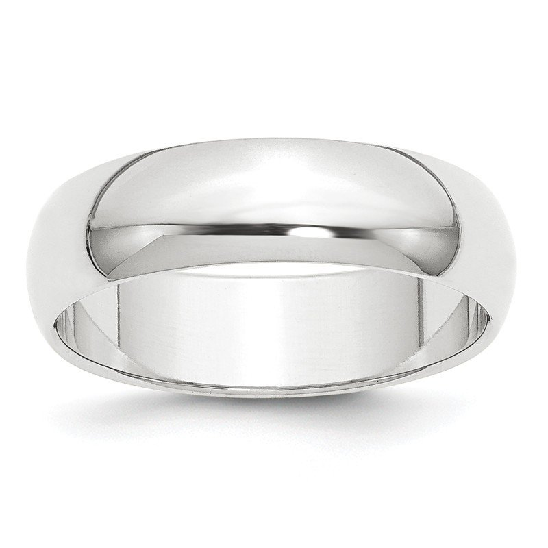 Quality Gold Platinum 6mm Half-Round Wedding Band