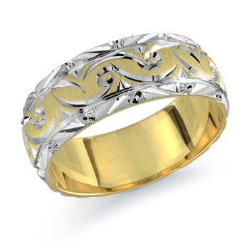 Mens Twist Design Wedding Band