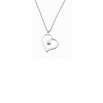 Cento Polished Heart Pendant