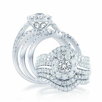 14K 2.45Ct Diamond Bridal Ring