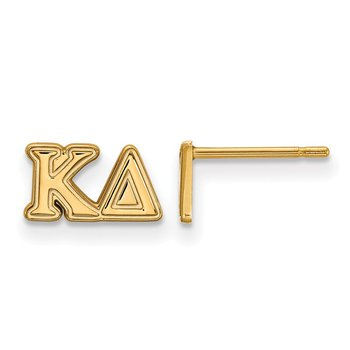 Gold-Plated Sterling Silver Kappa Delta Greek Life Earrings