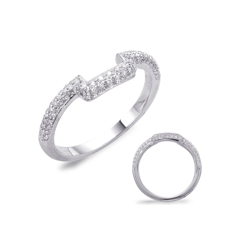 S. Kashi & Sons Bridal White Gold Pave Matching Band