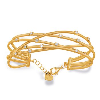 Yellow Gold Bangle Italian Made