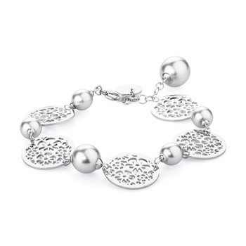 316L stainless steel and Swarovski® Elements pearls.