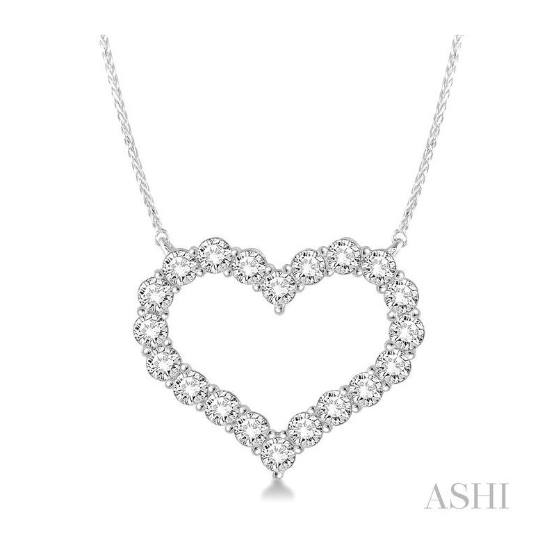 Barclay's Signature Collection heart shape diamond necklace