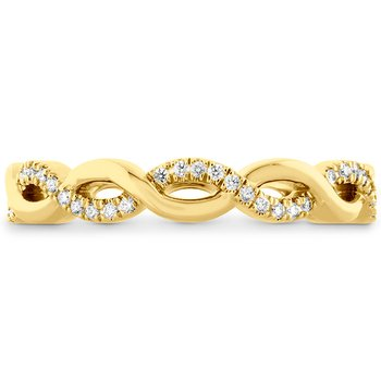 0.18 ctw. Destiny Lace Twist Eternity Band